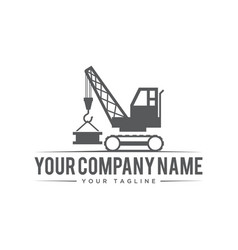 construction company symbol vector image