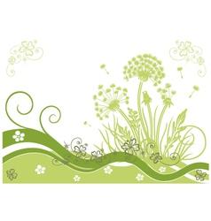 Dandelion meadow clover vector image