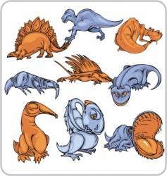 dinosaur vector image