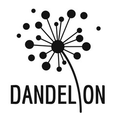 Dried dandelion logo icon simple style vector