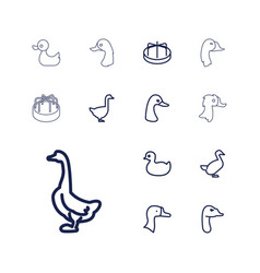 Duck icons vector