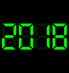 electronic digits 2018 vector image
