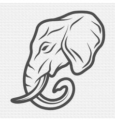 Elephant symbol logo emblem vector
