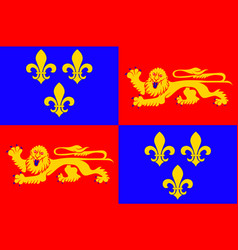 Flag of landes in nouvelle-aquitaine is the vector