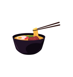 Flat eastern noodles vector