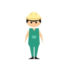 Flat web icon on white background man worker vector