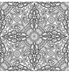 floral ornament oriental semless pattern line vector image