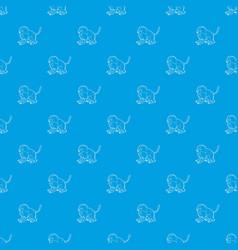 gelada monkey pattern seamless blue vector image