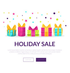 holiday sale banner landing page template vector image