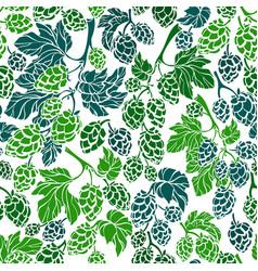 hop corn seamless pattern organic beer vector image