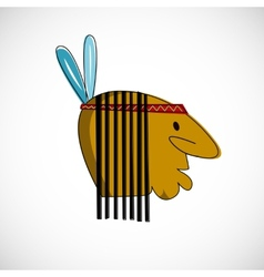 Indian head with brown skin design vector