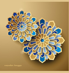 islamic geometric background ramadan vector image