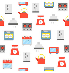 kitchen appliance seamless pattern for wallpaper vector image