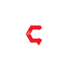 Letter c chat logo design template vector