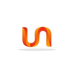 letter un mosaic creative modern logo vector image