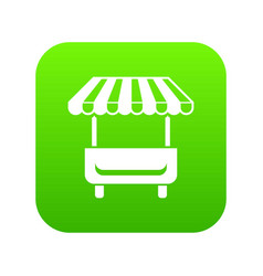 local stall icon green vector image