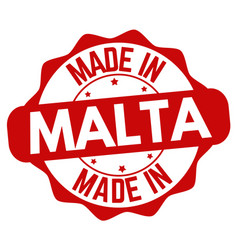 Made in malta sign or stamp vector