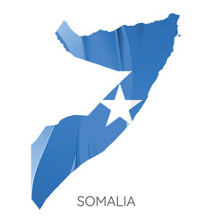 map somalia with flag vector image