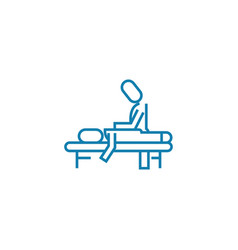 massage session linear icon concept massage vector image