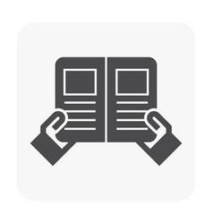 menu icon black vector image