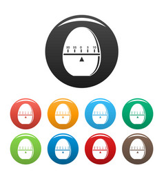 modern stopwatch icons set color vector image