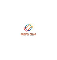Orbital atlas and space logo abstract vector