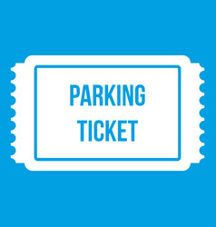 Parking ticket icon white vector