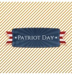 Patriot Day Emblem and Ribbon vector