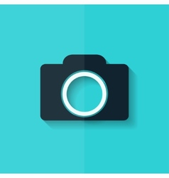 Photo camera icon photography flat design vector