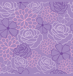 purple flowers texture pattern vector image