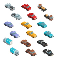 RoadTransport Colorful Isometric Icons vector
