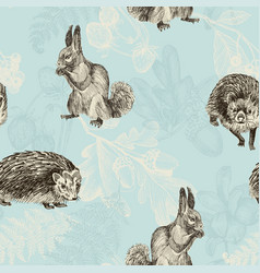 seamless pattern highly detailed hand drawn vector image