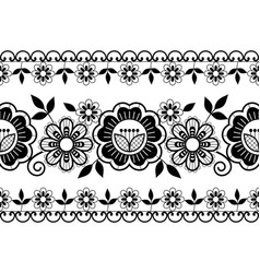 seamless wedding laace pattern ornamental black vector image