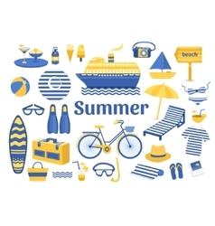 Set of summer vector image