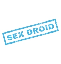 Sex Droid Rubber Stamp vector image
