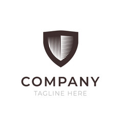 shield company logo sign vector image