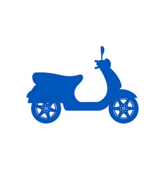 Silhouette of scooter in blue design vector