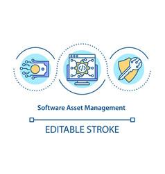 Software asset management concept icon vector