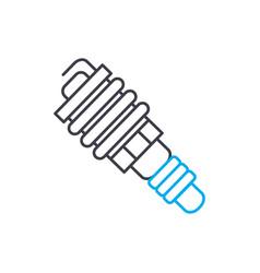 spark plug thin line stroke icon spark vector image
