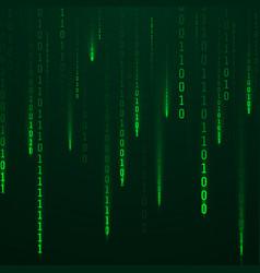 stream binary code green color code streams vector image