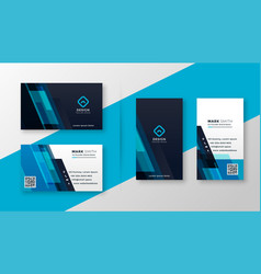 stylish blue elegant business card design vector image