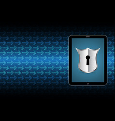 Technology digital cyber security keyhole shield vector