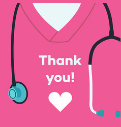 Thank you doctors and nurses - concept vector