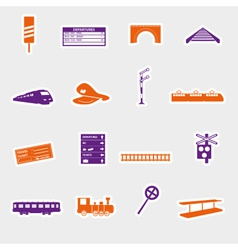Train and railway stickers eps10 vector
