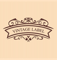 Vintage calligraphic label ornate logo template vector