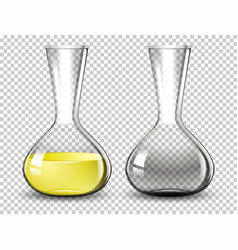 Volumetric flask on transparent background vector