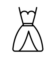 wedding dress icon on white background vector image