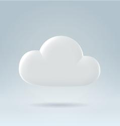 White cloud ove blue vector
