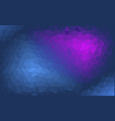 abstract blue and purple polygonal background vector image