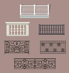 Balcony Railing vector image vector image